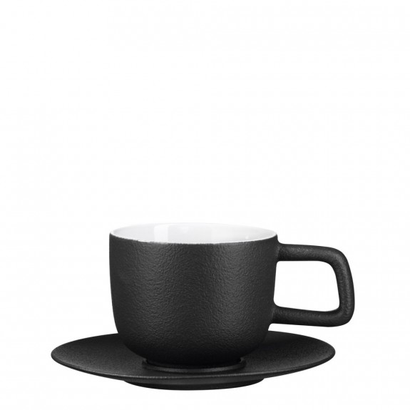 ASA Iron Tea Teacup & Saucer - Black