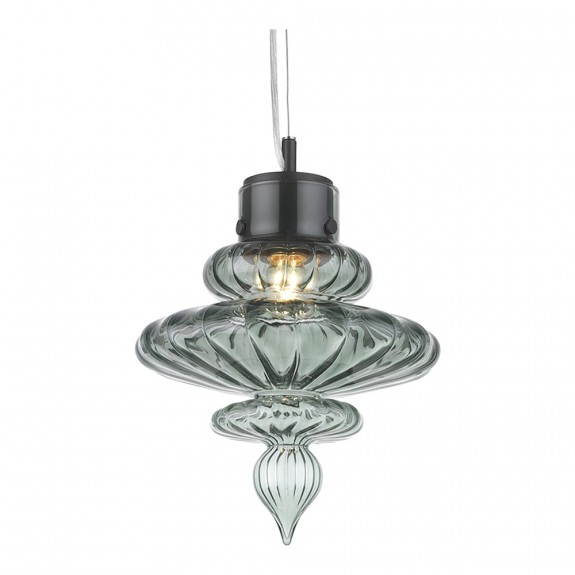 Heathfield & Co Basilica Opal Jade Nickel Pendant Light