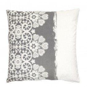 GreenGate Cushion Cover Lace Warm - Grey