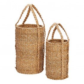 Hübsch Woven Tall Baskets Set Of 2