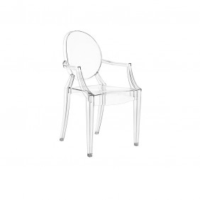 Kartell LOULOU GHOST Chair - Crystal