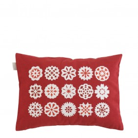 Linum Särna Cushion Red