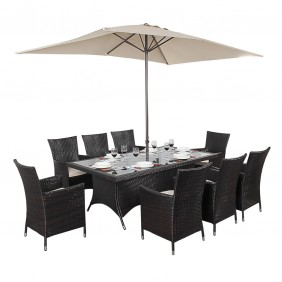 Port Royal Luxe Rectangle 8 Seat Garden Dining Set